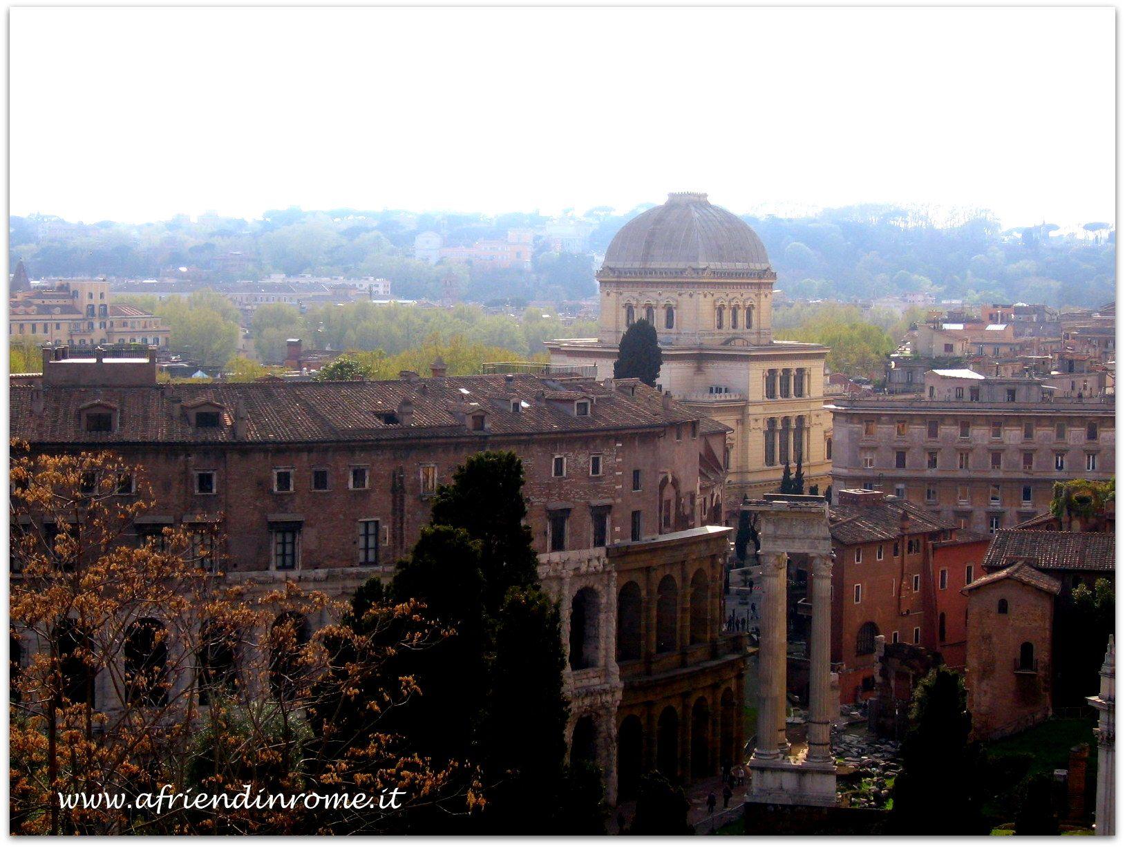 The view form Terrazza Caffarelli, a café open to the public next to ...