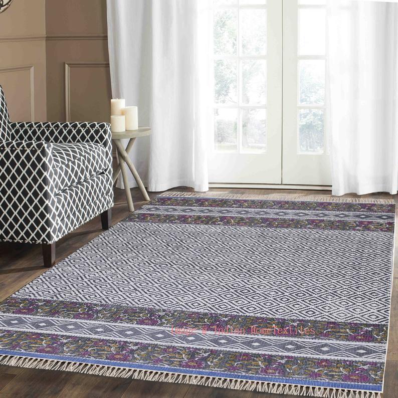 Area Rugs 6x9 Feet Cotton Handmade Rug Carpet Area Rug Floor Rug Office Rug Rustic Rug New Handblock Printed Rug Large Rug In 2020 Rugs On Carpet Indian Rugs Solid Rugs