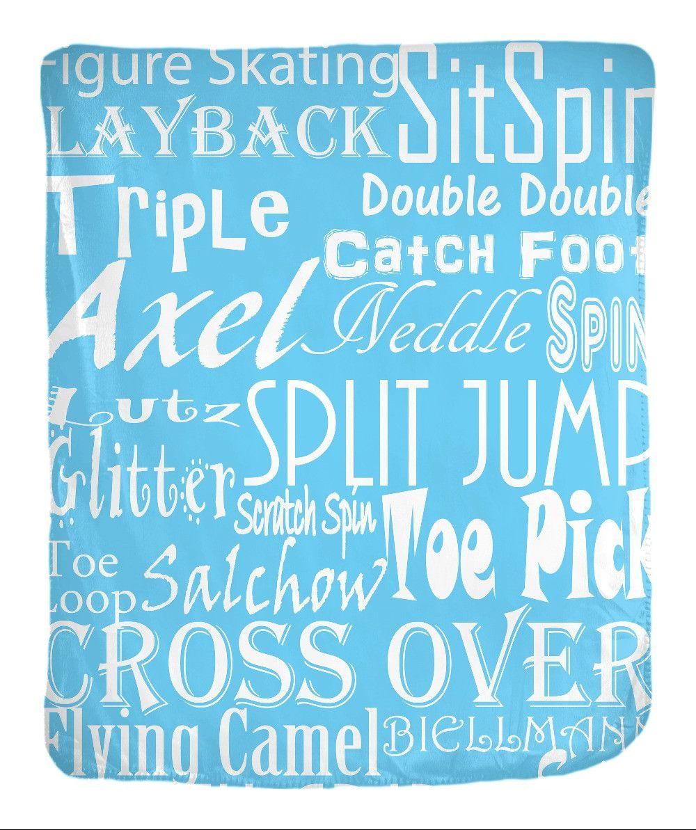 Skate Words Velveteen Blankets