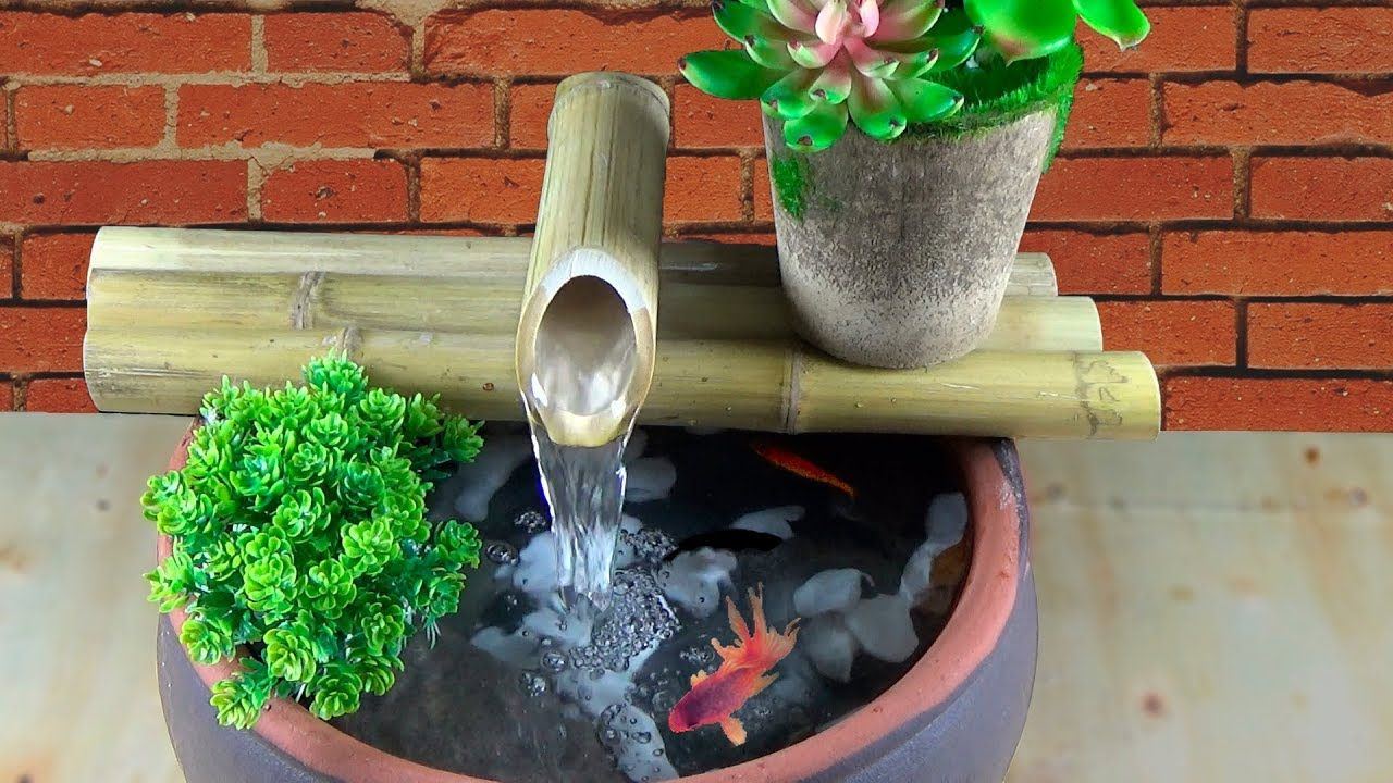 DIY! BAMBOO WATER FOUNTAIN How to Make WATER FOUNTAIN