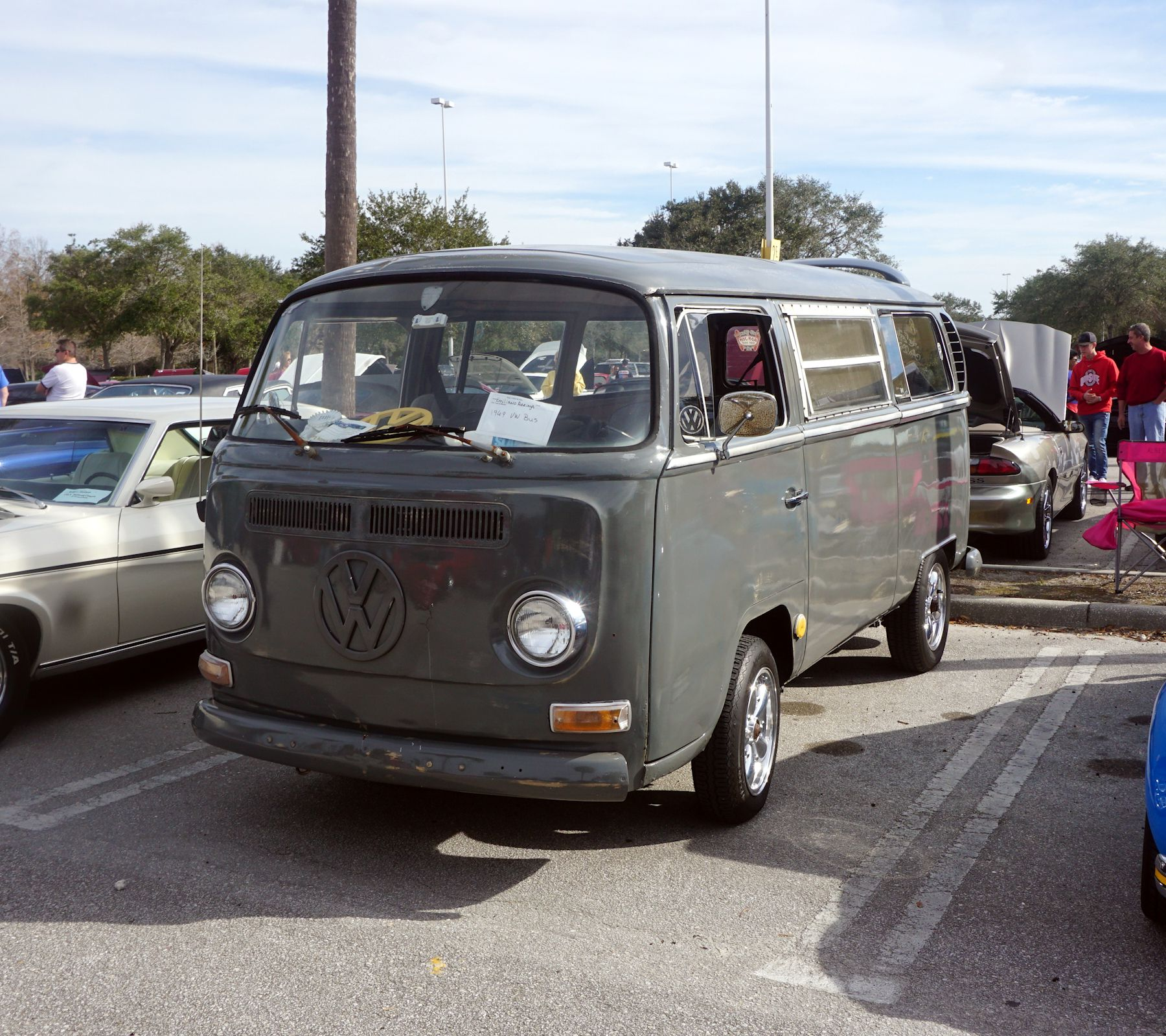 Grey Volks Wagon Bus At Cops And Cars For Kids Car Show