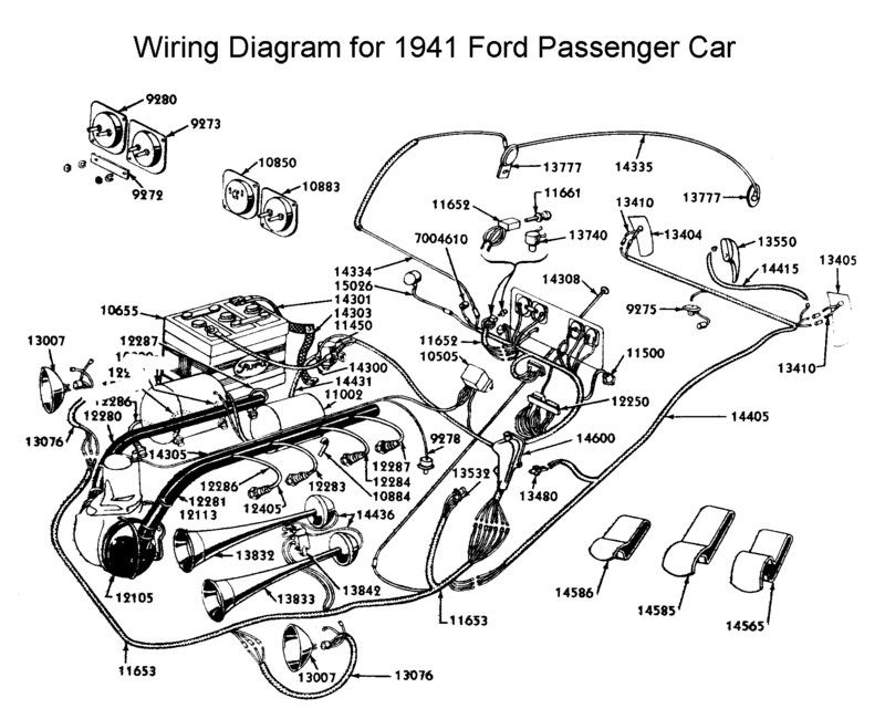 Wiring Diagram For 1941 Ford Diagram Ford Mustang Accessories 1940 Ford