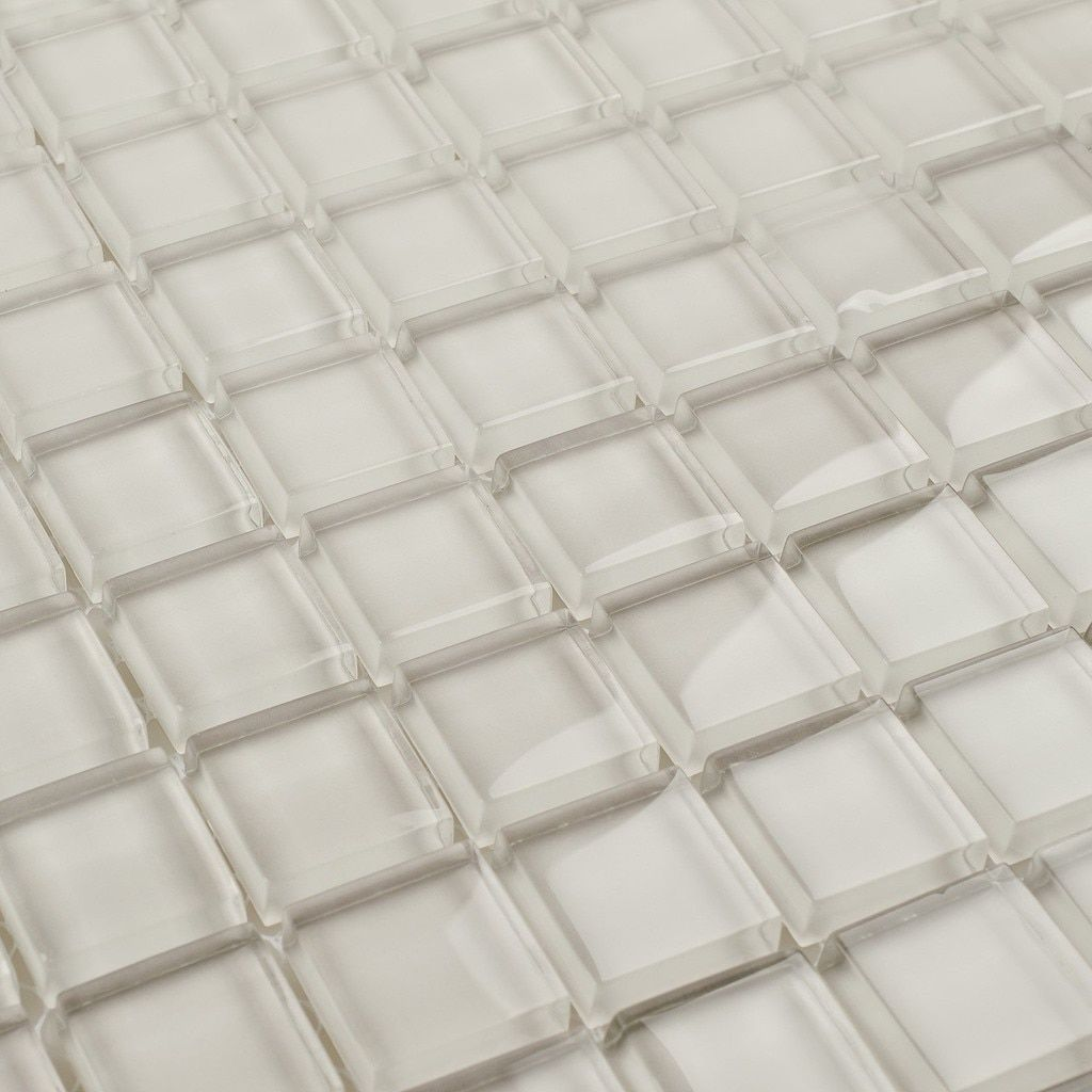 Glass Mosaic Tile White Moderne 1x1 Glass Mosaic Tiles Mosaic Glass Mosaic Tiles