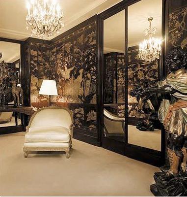Coromandel screens in Coco Chanel's apartment