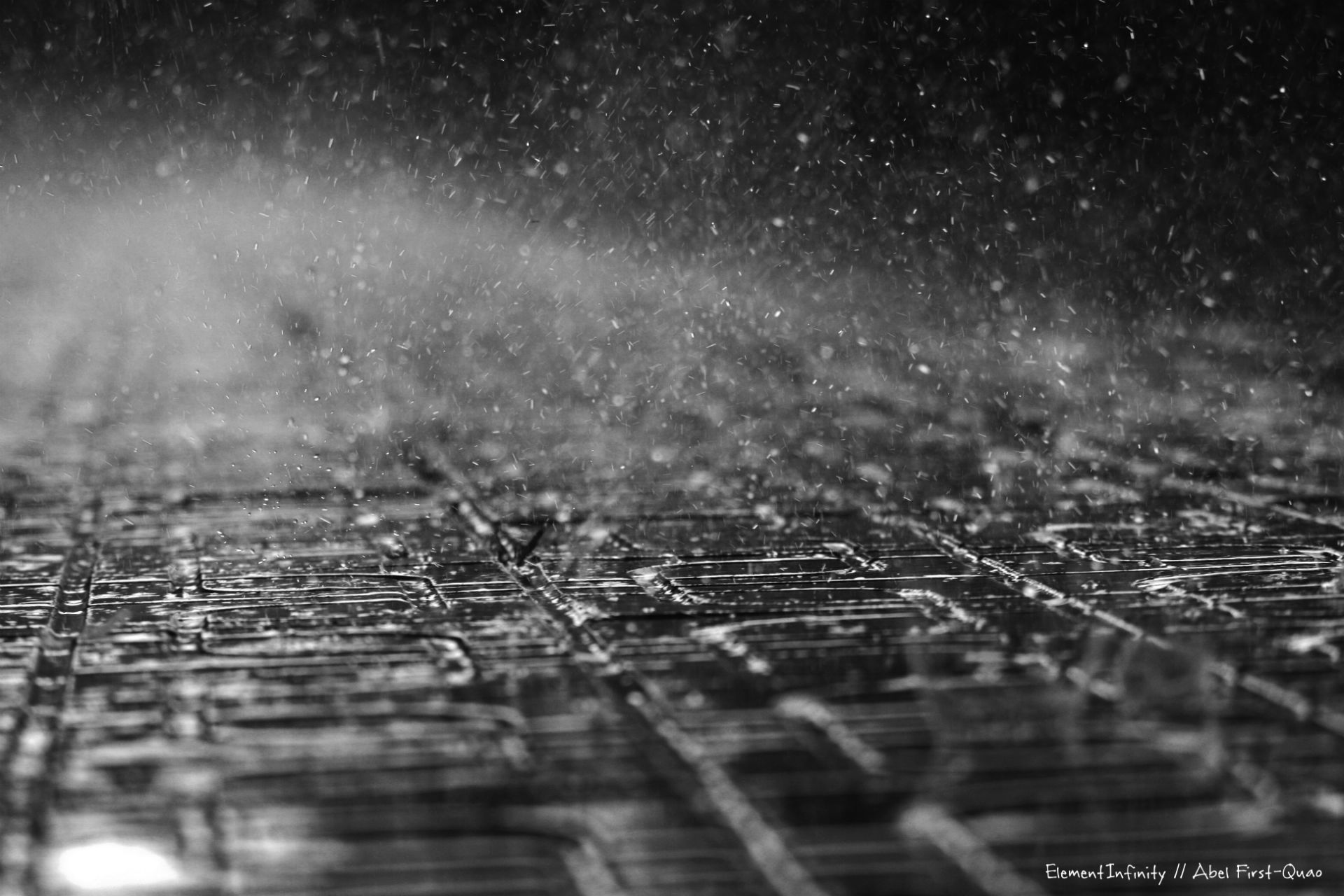 Sidewalk Cobble Rain Storm Wet Mood Wallpaper 1920x1280