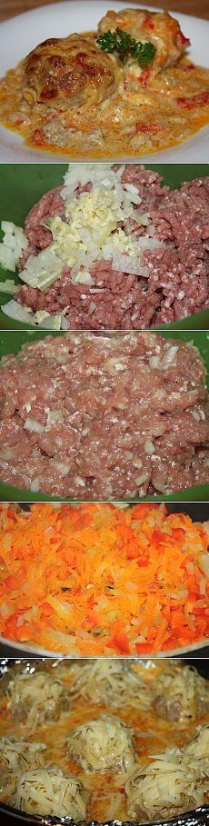 Как приготовить тефтели запеченные в духовке в сметанном соусе - рецепт, ингридиенты и фотографии