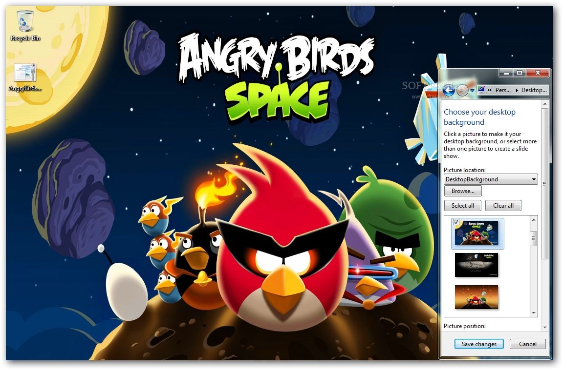 Angry Birds Space Windows 7 Theme With 8 Wallpapers And Icons