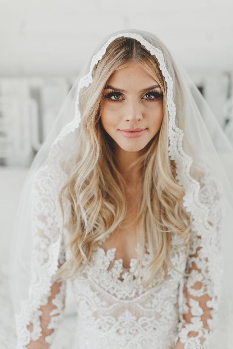 Shop Wedding hairstyles with veil, Wedding dresses, Lace
