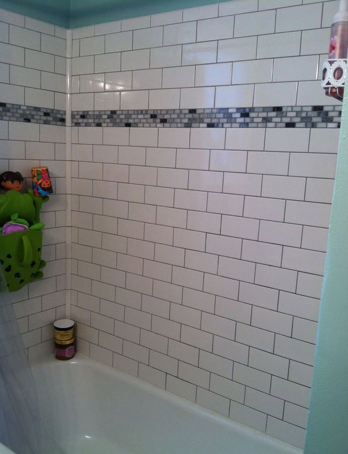 White Subway Tile Tub Surround 33 With Images Tile Tub