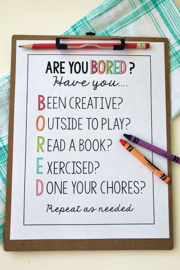 Are you bored? Printable