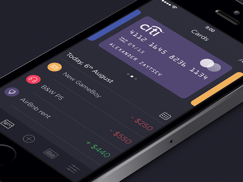 Walle Finance iPhone App DesignGoogle+ | Dribbble | Behance | Twitter | http://ramotion.com