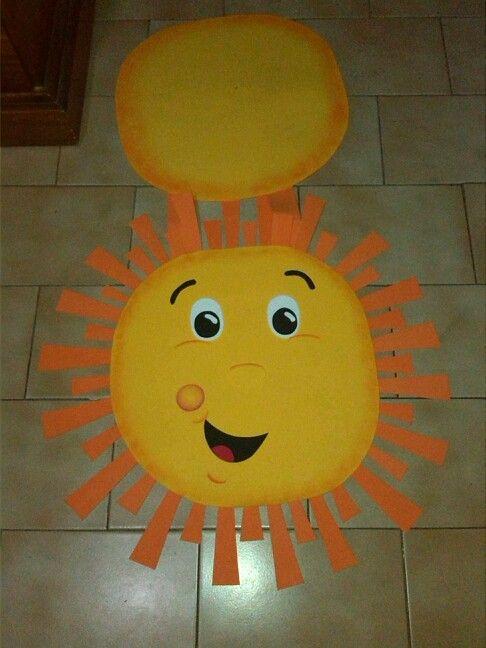 Sol Disfraz Con Foami Tipo Delantal Mis Trabajos Sun Mask For