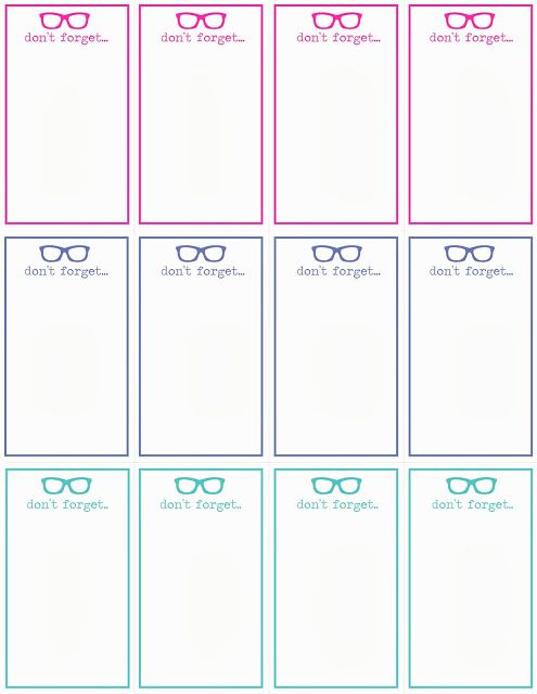 Don'T Forget  Cards Template Download! #Reminders #Notes #Cards