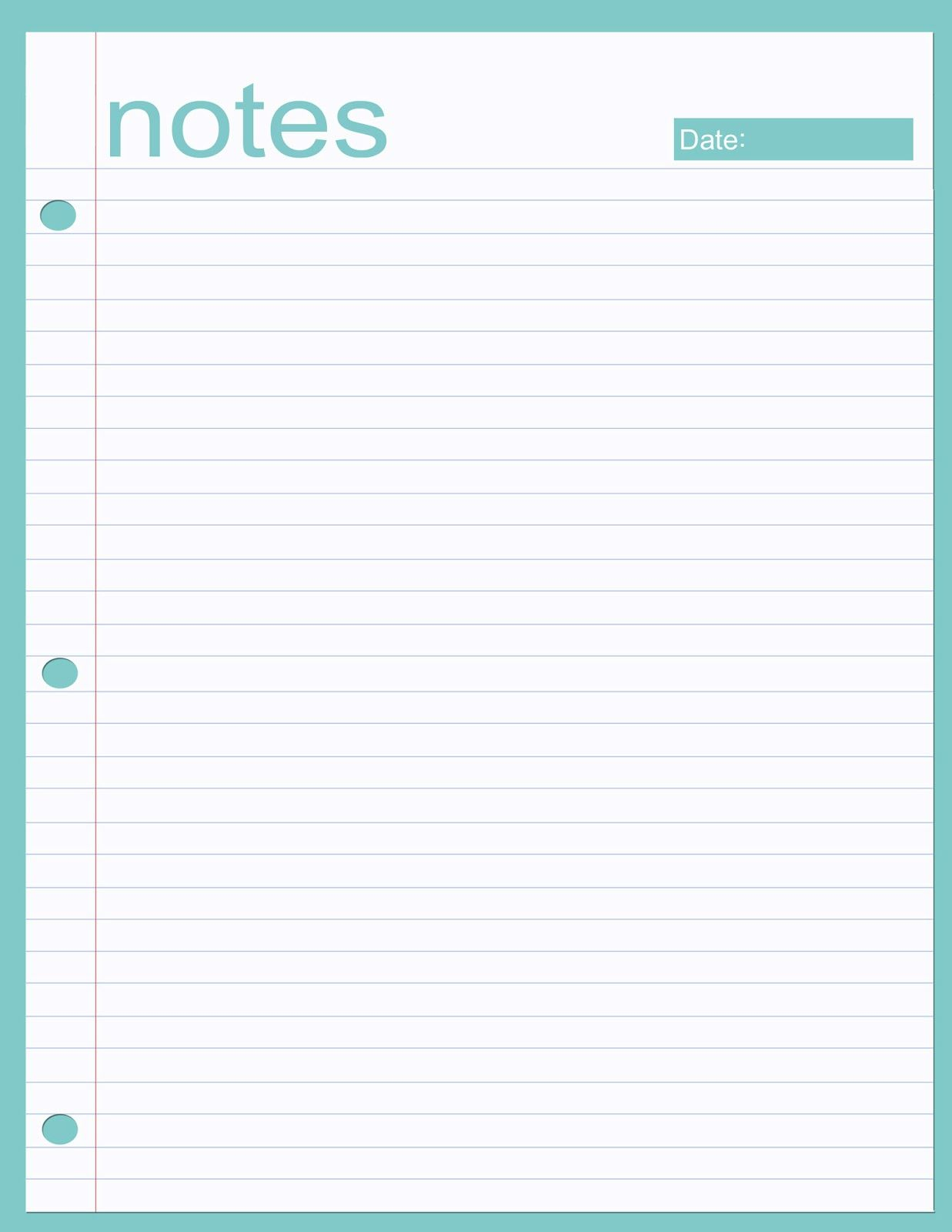 image relating to Printable Note called Printable notes web site Planners Planner webpages, Printable