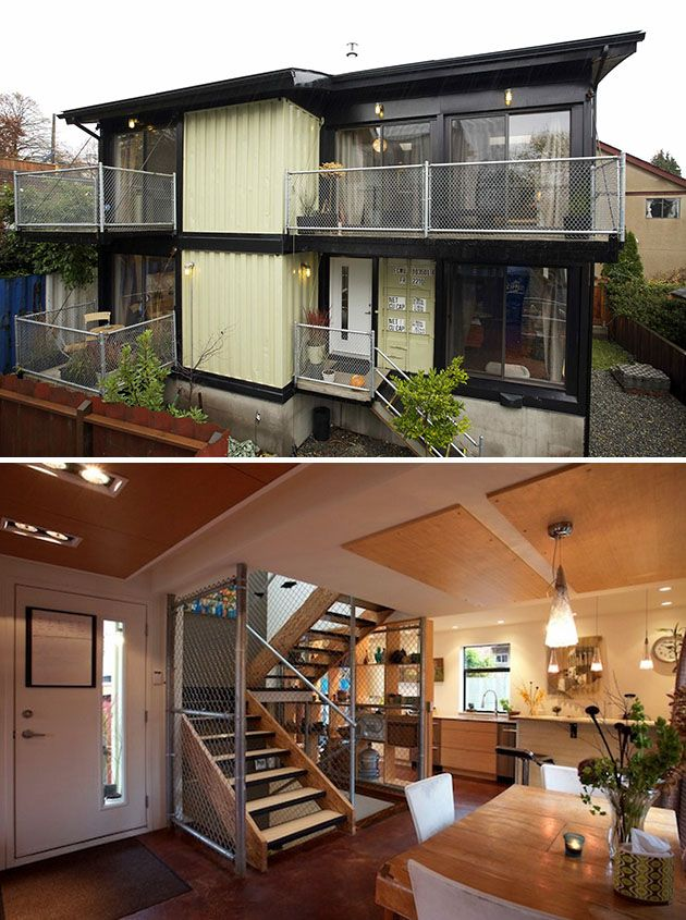 Shipping Container Home Designs - See more about Container Homes at  http://wiselygreen.com/container-homes-pros-and-cons-of-shipping-container -home