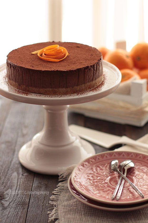 Raquel's Kitchen: Cheesecake de Chocolate y Naranja