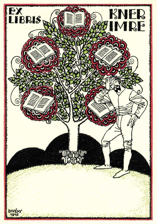 Josef Diveky ex-libris for Imre Kner (1915)