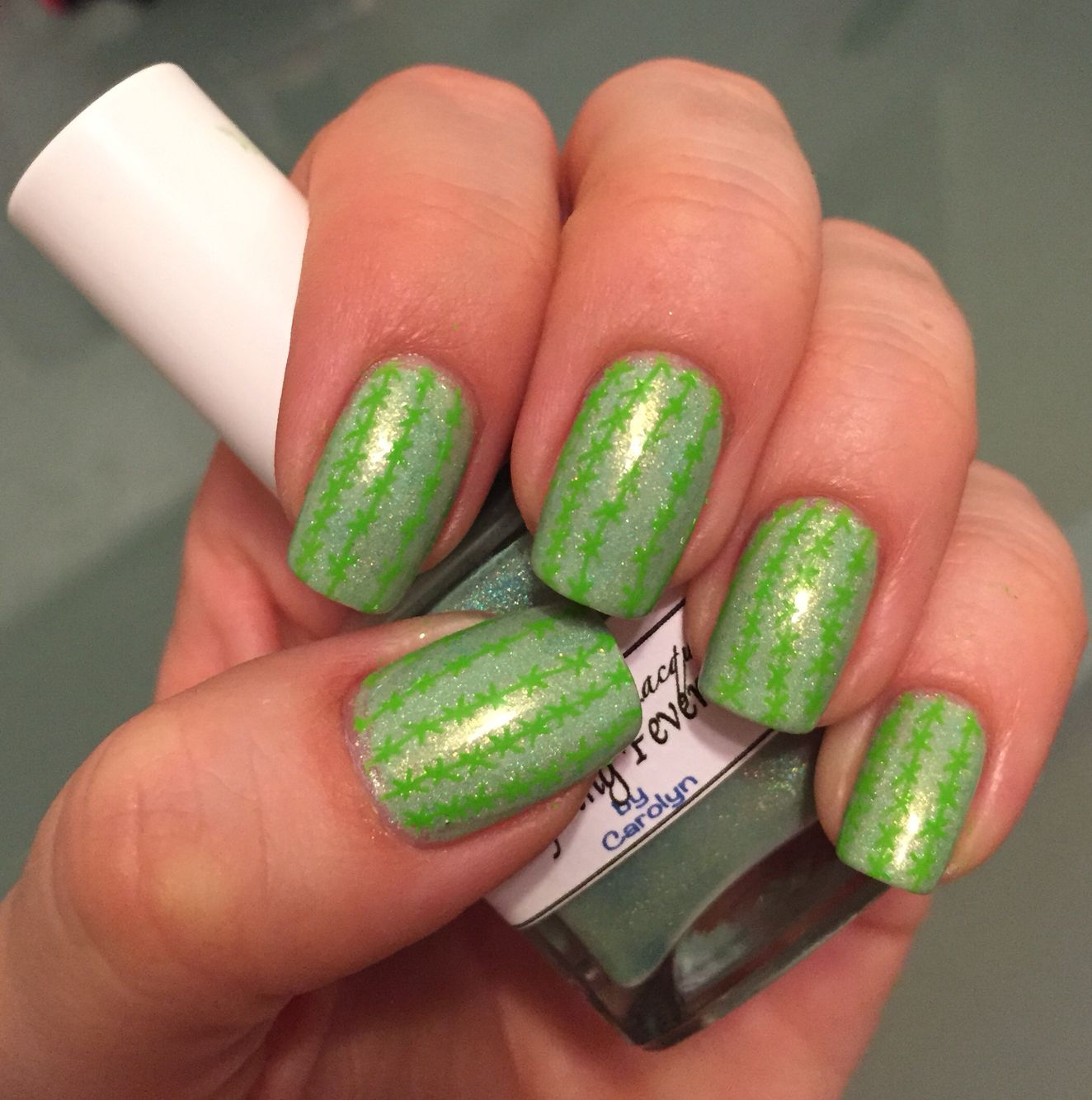 Cactus Nails! Used Liquid Sky Lacquer Spring Fever and UnerChic ...