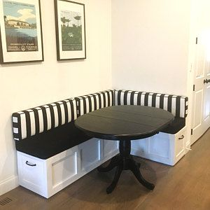 Corner Bench Set Shaker Banquette Bench Top Opening Storage Bench Breakfast Nook Stained Finished Wood In 2020 Dining Room Small Banquette Bench Dining Room Bench