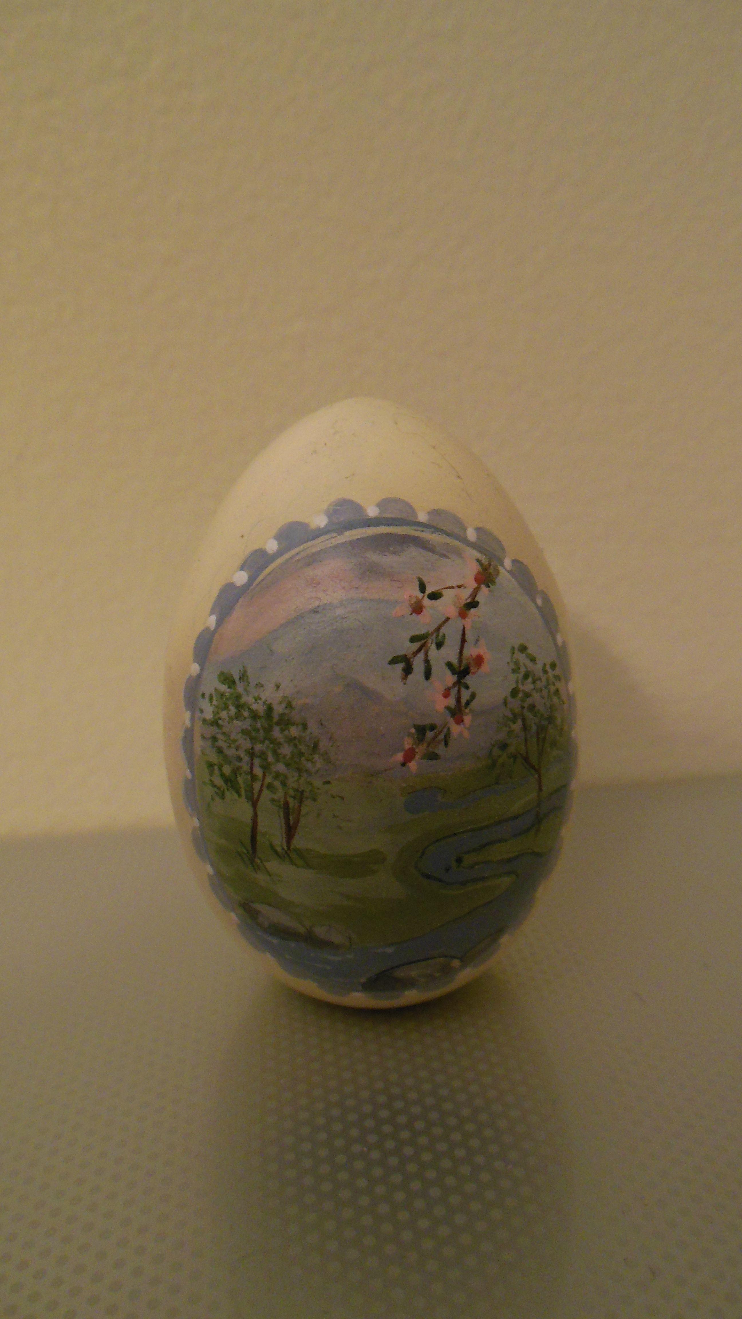 Hand painted egg stream
