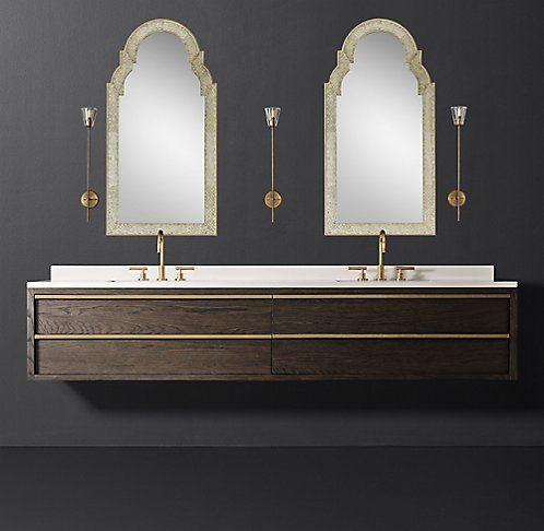 Inspiration Web Design Bezier Floating Vanity Bath Collection RH Modern