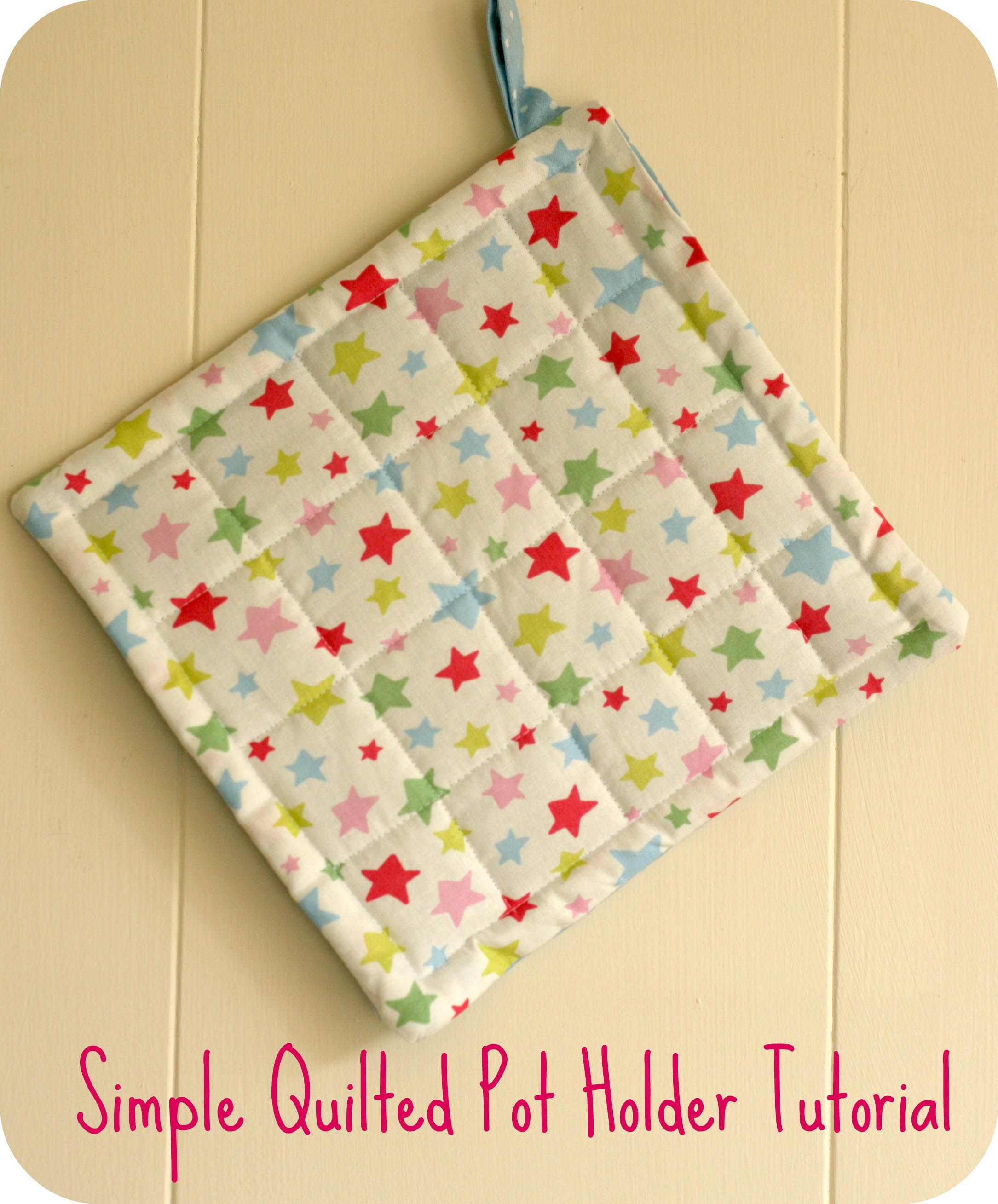 Simple quilted pot holder tutorial