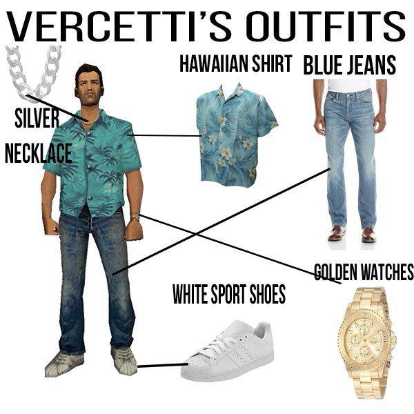 Tonny Vercetti Gta Vice City Gta Outfits City Outfits
