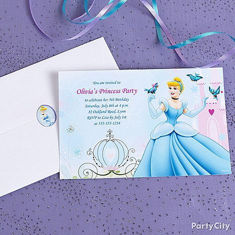 customized party invitations are perfect for your little princess - Customized Party Invitations