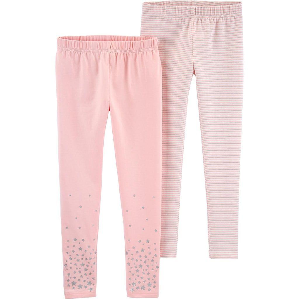 Girls 4-12 Carter's 2-Pack Stars & Striped Leggings, Girl's #stripedleggings