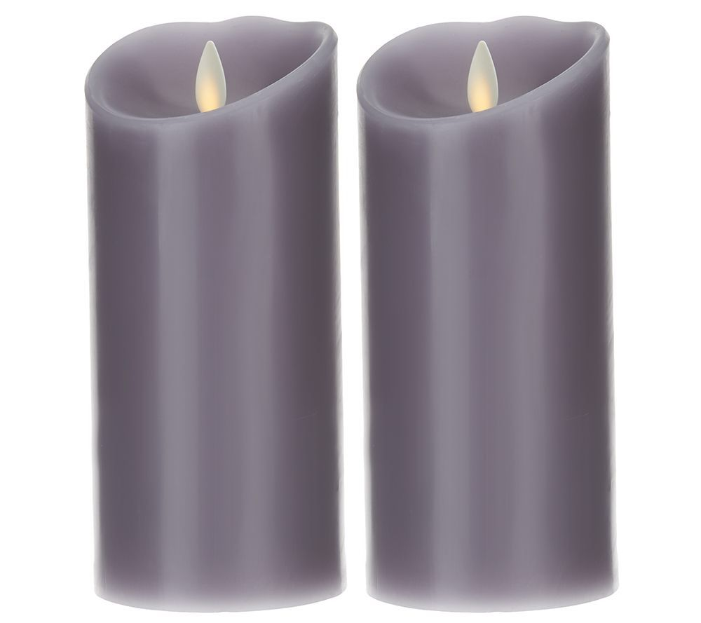 "Qvc Flameless Candles Fascinating Luminara Set Of 2 6"" Flameless Candles With Timer  Flameless Candles Inspiration Design"
