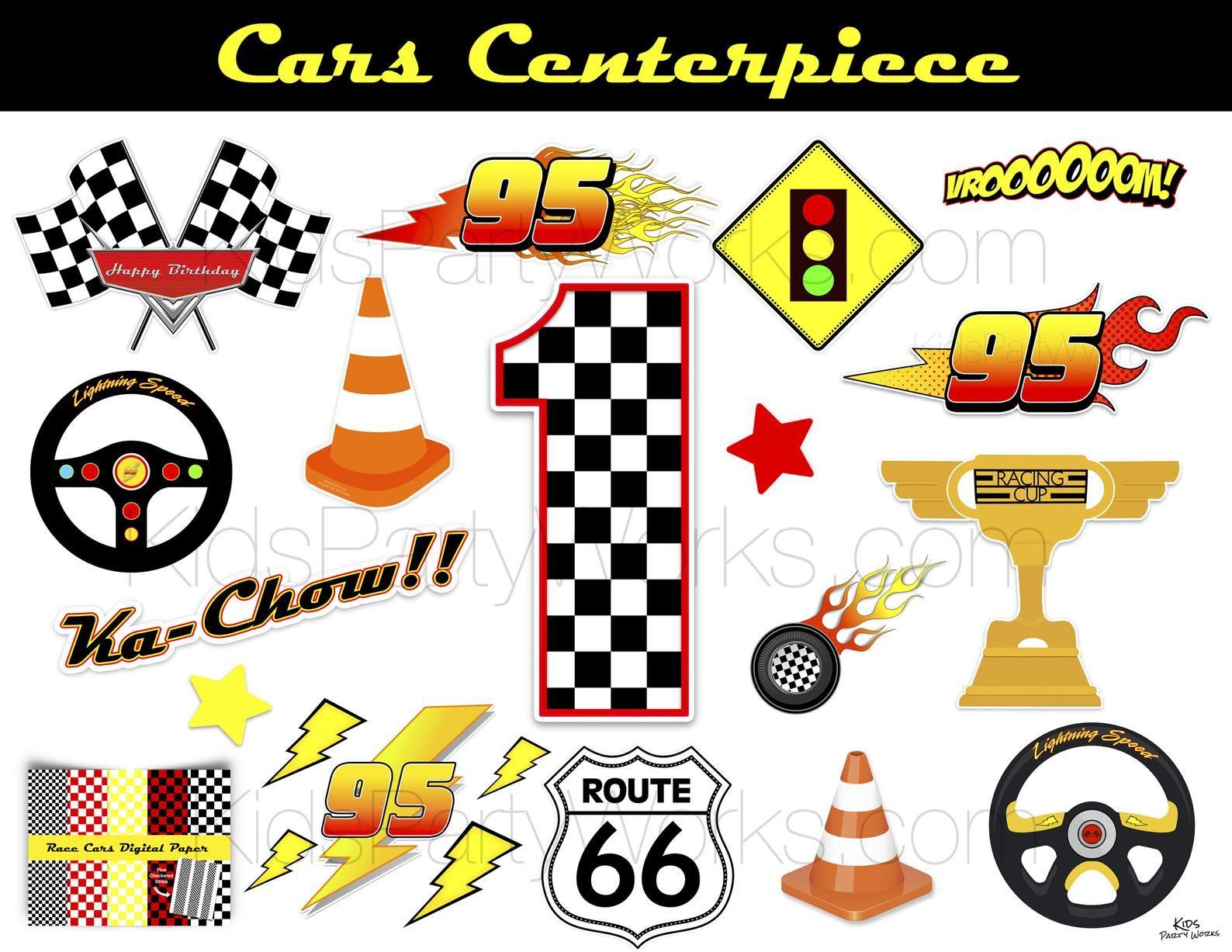 CARS Birthday Centerpiece, Race Car Birthday, Cars