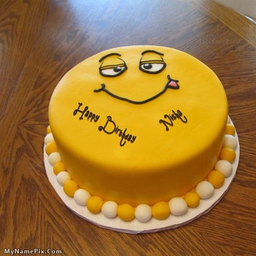 The Name Nisha Is Generated On Funny Cake For Kids With Name Image