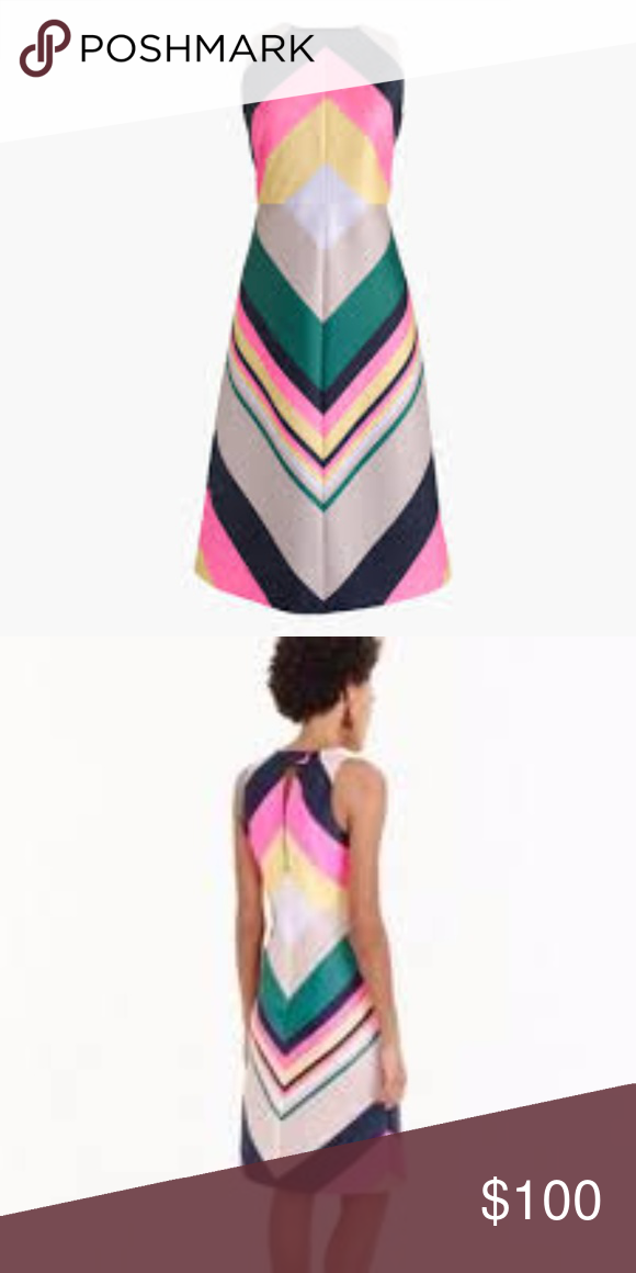 36962eaf8ff J. Crew POP-STRIPE DRESS Colorful cocktail dress