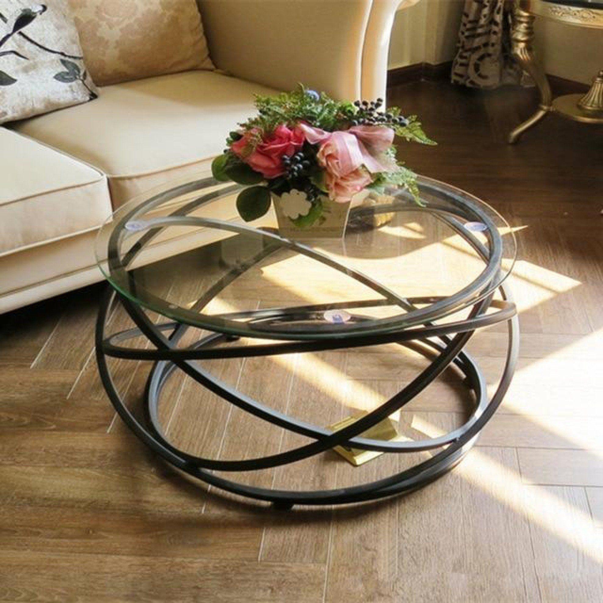 Round Fashion Metal Base Coffee Table Metal Base Coffee Table Coffee Table Round Coffee Table Modern [ jpg ]