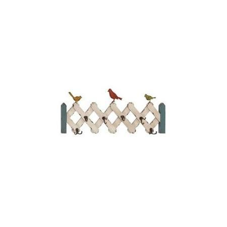 Woodland 34911 Accordion Shaped Wood Wall Metal Hooks