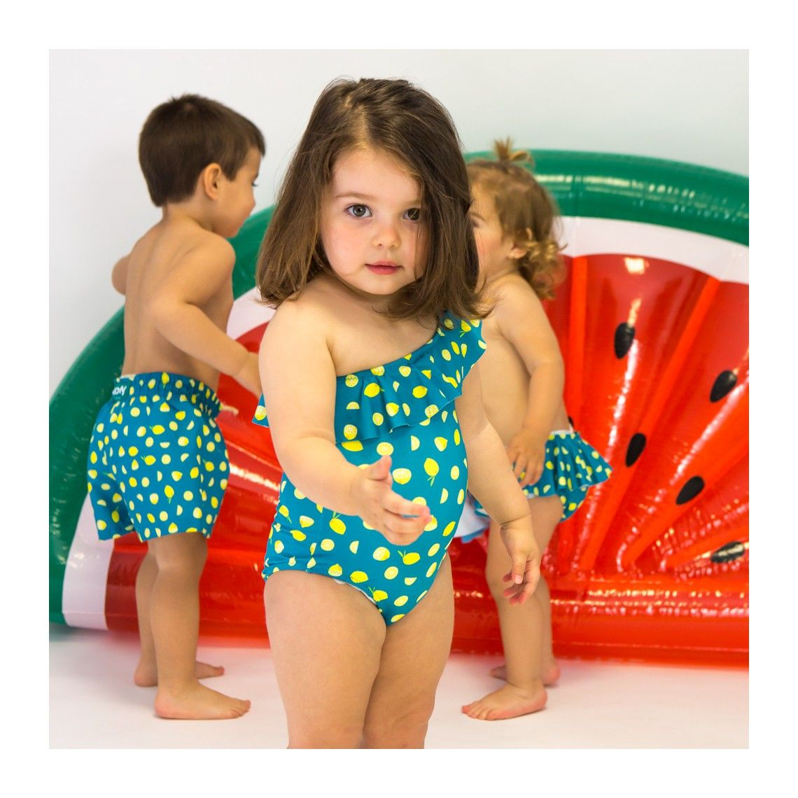 f6f0f6ed90 Girl Swimsuit Green Lemons 2 to 6 years - Ocoly | Ocoly Father and ...