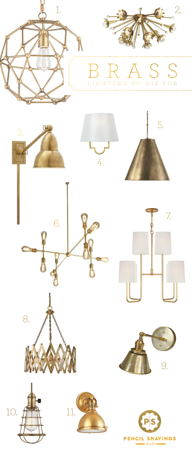 Brass Lighting Roundup Small Master Bath Lighting