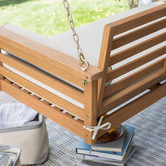 Belham Living Brighton Deep Seating 65 in. Porch Swing Bed ... on Belham Living Brighton Outdoor Daybed id=75306