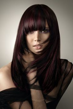 hair color red black brown - Google Search
