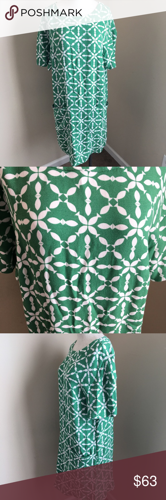 """Boden Fish Print Shift Dress with Pockets Very roomy lightweight Shift Dress. Has pockets. NWOT. 36"""" Long. 20"""" Armpit to Armpit. Boden Dresses"""