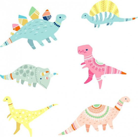 Dinosaur Pattern by freeminds