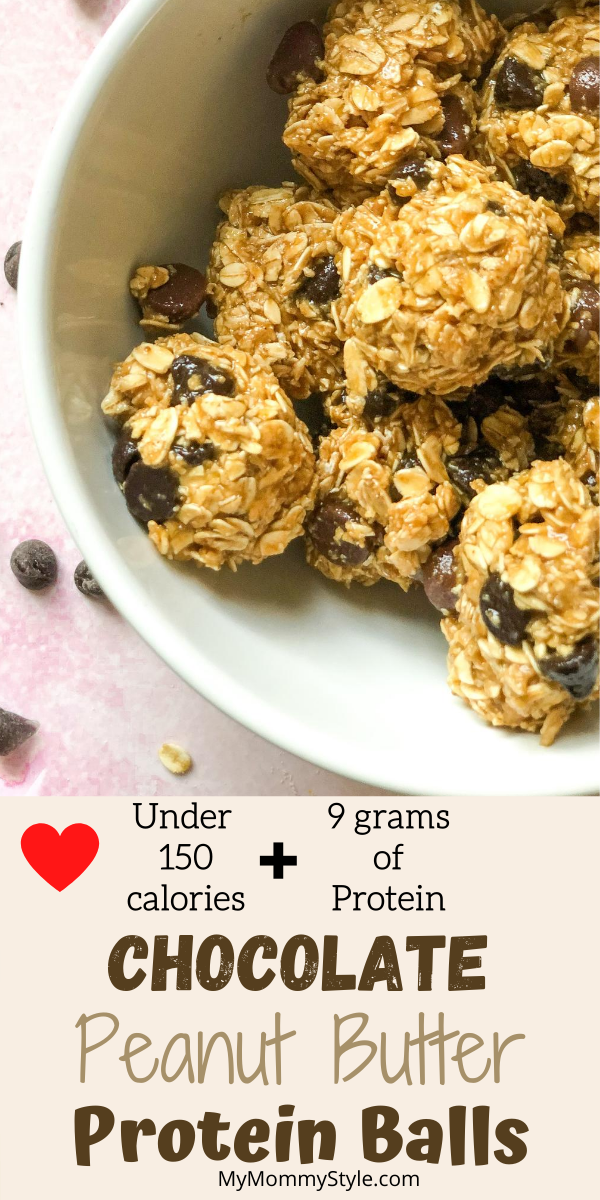 Easy Chocolate Peanut Butter Protein Balls My Mommy Style Recipe Peanut Butter Protein Chocolate Peanut Butter Recipes