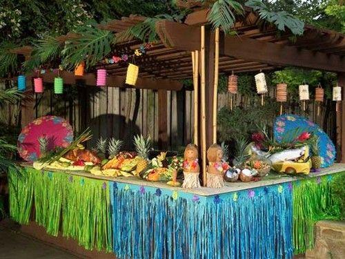 hawaiian luau party decorations - Luau Decorations