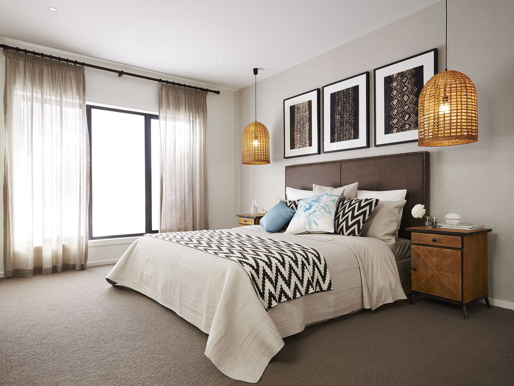 We Love The Hanging Pendant Lights Featured In The Seville28 Master Bedroom Master Bedroom Lighting Bedroom Light Fixtures Modern Bedroom Lighting