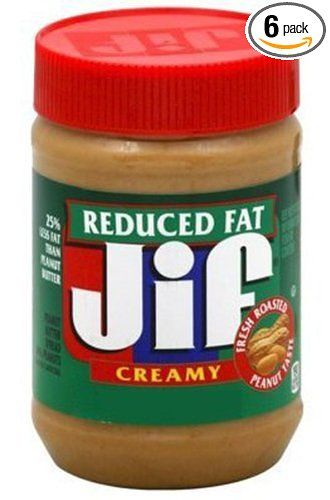 Healthy Snacks: Jif Creamy Reduced Fat Peanut Butter Spread, 16-Ounce (Pack of 6) #weightloss #healthyeating