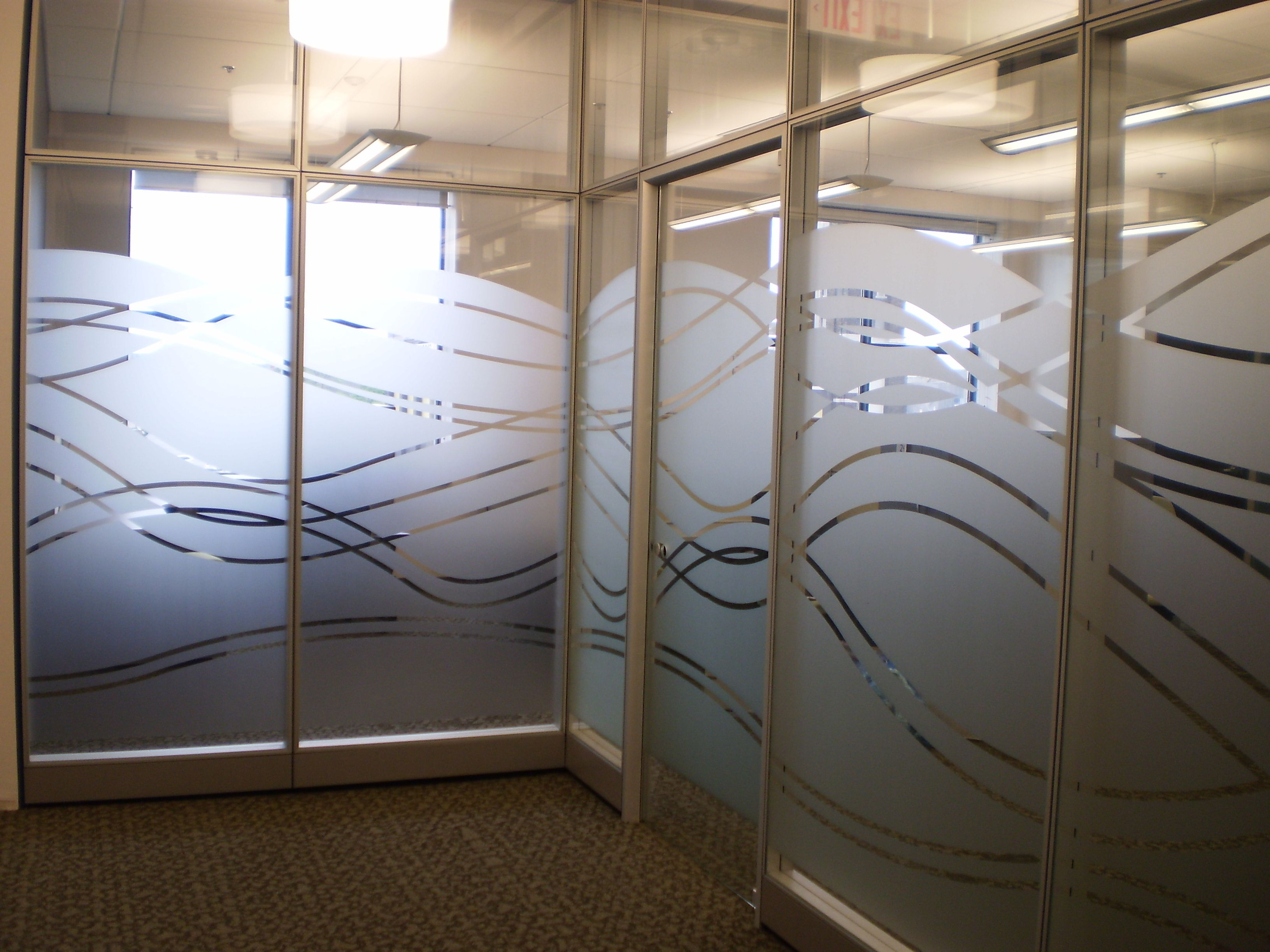 Hows That For Some Creative Privacy Through Windowfilm Glass Wall Office Decorative Window Film Glass Film Design