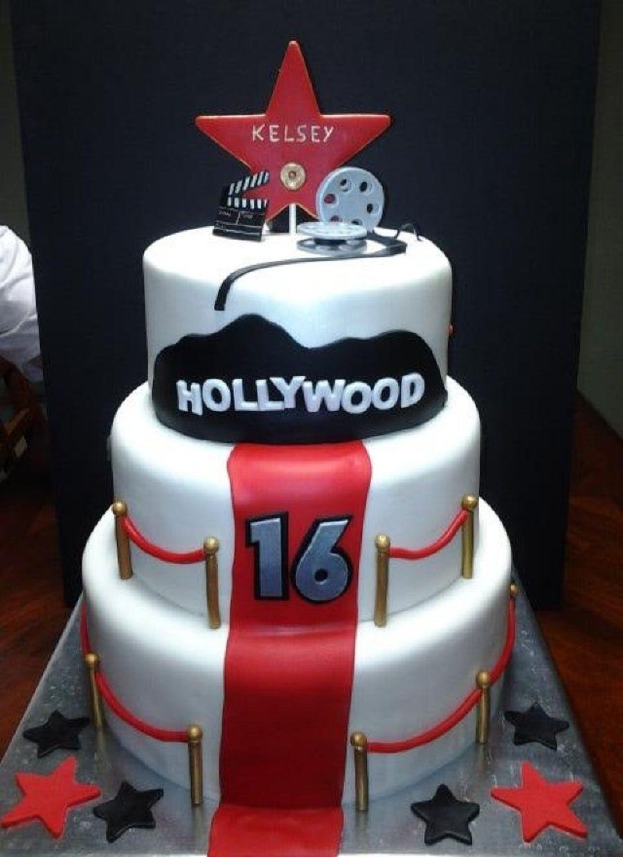 Movie Star  Movie Night Cake Ideas Oscar Party Cake And - Movie themed birthday cake