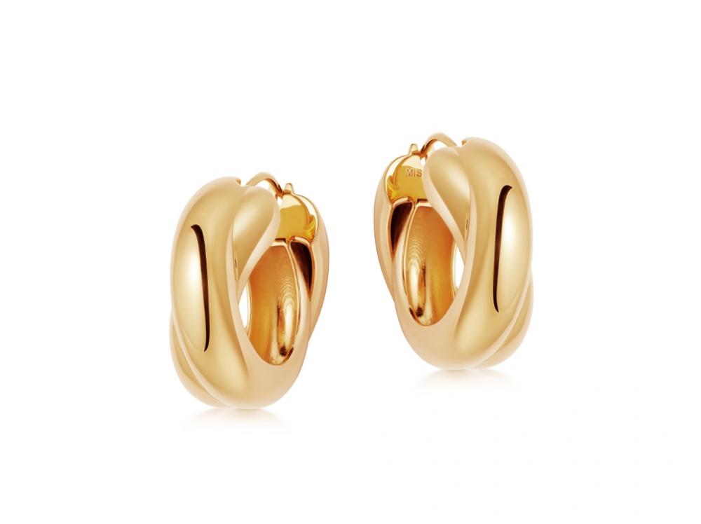 Lucy Williams Chunky Entwine Hoop Earrings Missoma Demi Fine Jewelry Selling Jewelry