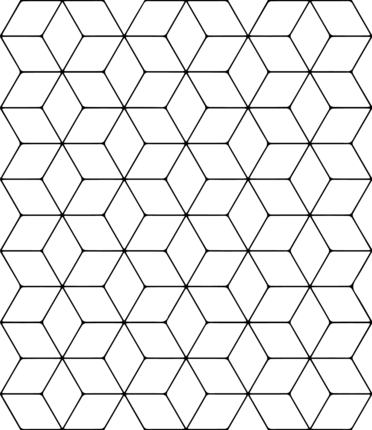 Tessellation With Rhombus Coloring Page Tessellation Patterns Tessellation Art Coloring Pages