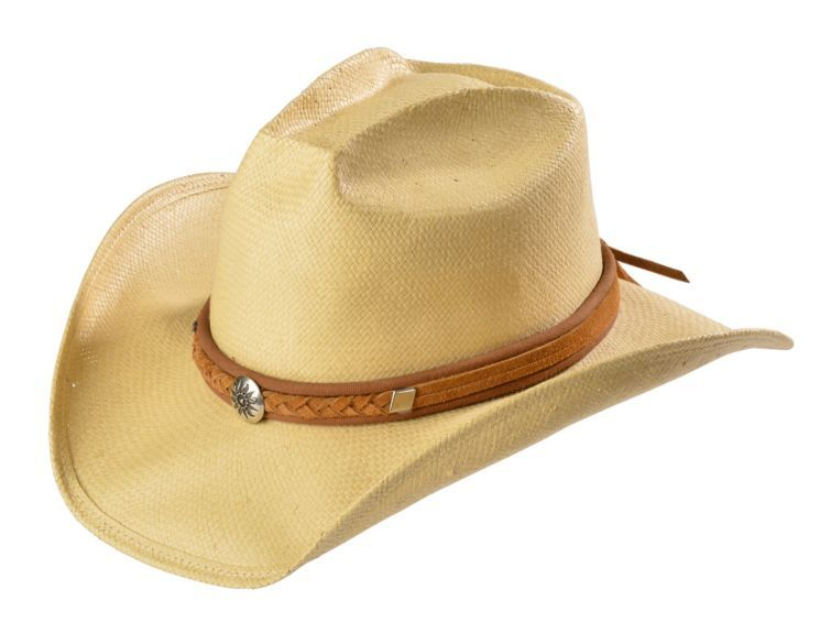 3da94cfa289e9 Shady Brady Crushable Straw Pinchfront Braided Suede Band Cowboy Hat  available at  Sheplers
